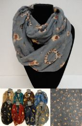 36 of ExtrA-Wide Light Weight Infinity Scarf Elephant Print