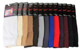 120 of Womens Trouser Socks Size 9-11 Nylon Stretch Knee Socks, Beige