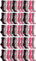 12 of Yacht & Smith Womens Breast Cancer Awareness Pink Ribbon Crew Socks Size 9-11