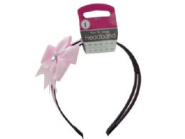 72 of Alice Headband With Bow & Jewel Accent