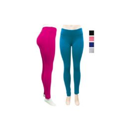 24 of Ladies Yoga Leggings In Assorted Color