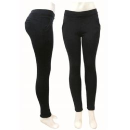 12 of Ladys Warmer Pants In Black