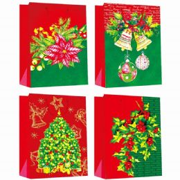 144 of Gift Bag Xmas Four Pack 4.5x5.75x2.5