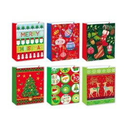 96 of Gift Bag Xmas Two Pack Size Large
