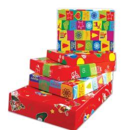 96 of Four Piece Xmas Gift Box Size Large