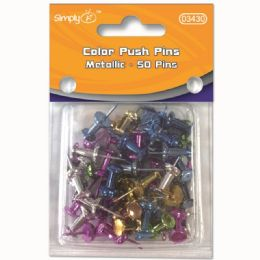 96 of Metallic Color Push Pin Fifty Count
