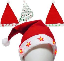 60 of Flashing Santa Hats With Music