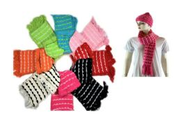 72 of Cozy Scarf Hat Set With Knitted Design