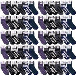 60 of Yacht & Smith Men's Warm Cozy Fuzzy Socks, Stripe Pattern Size 10-13