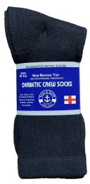 36 of Yacht & Smith Women's Cotton Diabetic NoN-Binding Crew Socks Size 9-11 Black