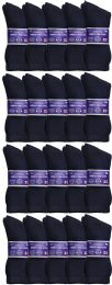 60 of Yacht & Smith Men's Loose Fit NoN-Binding Soft Cotton Diabetic Crew Socks Size 10-13 Navy