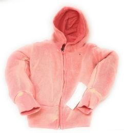 48 of Girl's Coral Full Zipper Hoodie