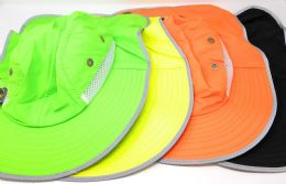 36 of Assorted Colors Reflective Fishing Hat