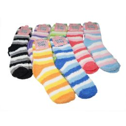 144 of Winter Super Soft Warm Women Soft & Cozy Fuzzy Socks - Size 9-11