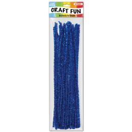 144 of Forty Count Tinsel Stems Dark Blue