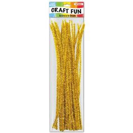 144 of Forty Count Tinsel Stems Yellow