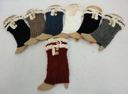 12 of Knitted Boot Cuffs With Antique Lace [2 Buttons]