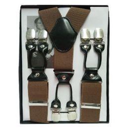 24 of Solid Suspenders Brown