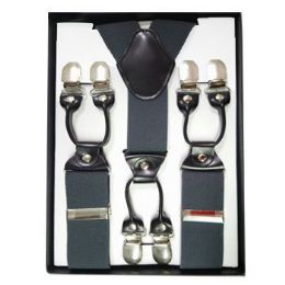 12 of Solid Suspenders Gray
