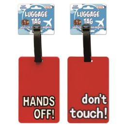 144 of Luggage Tag Hands Off Dont Touch