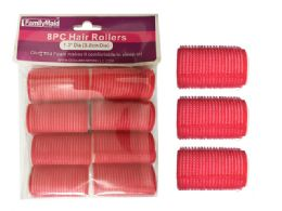 96 of 8pc Cling + Foam Hair Rollers