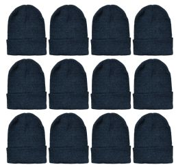 12 of Yacht & Smith Unisex Winter Warm Beanie Hats In Solid Black