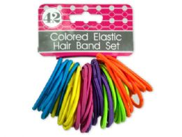 72 of Colored Elastic Hair Bands Set
