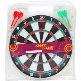 24 of Dart Board With Darts In Pegable Blister Pack