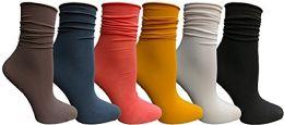 6 of Yacht & Smith 6 Pack Women's Ruffle Slouch Socks Size 9-11