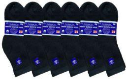 6 of Yacht & Smith Women's Diabetic Cotton Ankle Socks Soft NoN-Binding Comfort Socks Size 9-11 Black