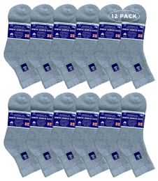 6 of Yacht & Smith Women's Diabetic Cotton Ankle Socks Soft NoN-Binding Comfort Socks Size 9-11 Gray