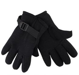 36 of Mens Black Fleece Winter Gloves