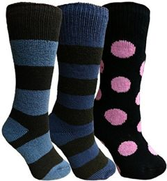 3 of Yacht&smith 3 Pairs Womens Brushed Socks, Warm Winter Thermal Crew Sock