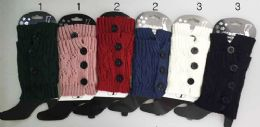 24 of Knitted Boot Topper Crochet With 3 Big Buttons