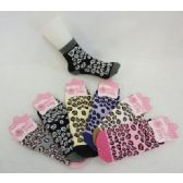 120 of Womens Leopard Print Warm Fuzzy Socks - Womens Fuzzy Socks