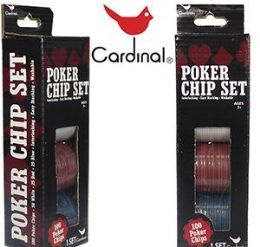 60 of Cardinal Hundred Piece Poker Chip Sets