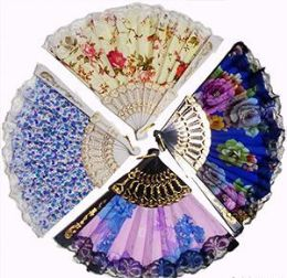 120 of Flowers And Lace Folding Hand Fans