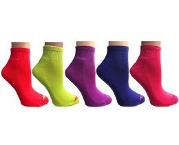 20 of SOCKS'NBULK 20 Pair Pack Womens Cushion Athletic Performance Socks, Neon Sport Socks
