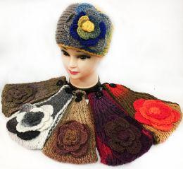 36 of Tie Dye Effect Multicolored Flower Headbands