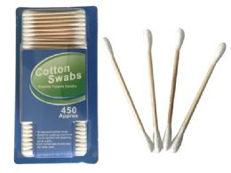 72 of 450pc Wooden Cotton Swabs