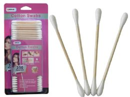 72 of 350pc Wooden Cotton Swabs