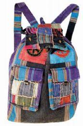 10 of Patchwork Double Pocket Nepal Handmade Backpacks