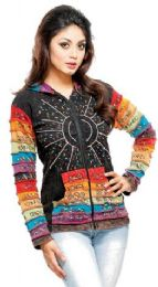 5 of Nepal Handmade Cotton Jackets With Hood Rainbow Sequins