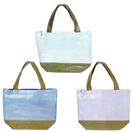 24 of Wholesale Insulated Lunch Bag In 3 Assorted Colors