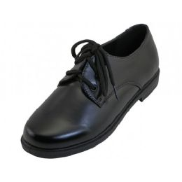 24 of Youth's Black School Shoes With Lace Upper