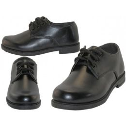 24 of Big Boy's Black Lace Up School Shoe