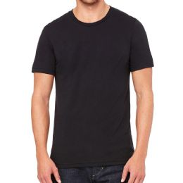 6 of Mens Cotton Crew Neck Short Sleeve T-Shirts Black, Large