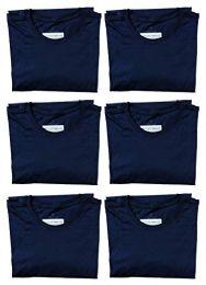 6 of Mens Cotton Crew Neck Short Sleeve T-Shirts Navy, Medium