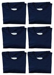 6 of Mens Cotton Crew Neck Short Sleeve T-Shirts Navy, X-Large