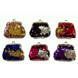 48 of Reversible Sequins Snap On Coin Purse